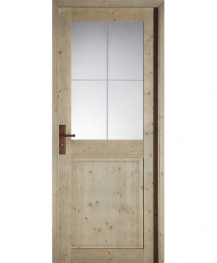 porte battante tamise vitr e sapin massif gris cendr bross paul ceyrac e couliss. Black Bedroom Furniture Sets. Home Design Ideas