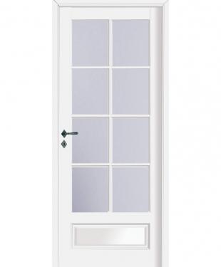 Porte d 39 int rieur de maison standard ou sur mesure e couliss for Porte interieure vitree petit carreaux
