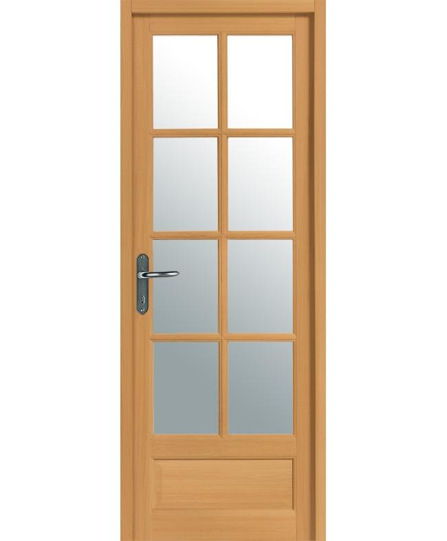 porte r novation boralde 8 carreaux bois exotique massif teinte h tre paul ceyrac e couliss. Black Bedroom Furniture Sets. Home Design Ideas