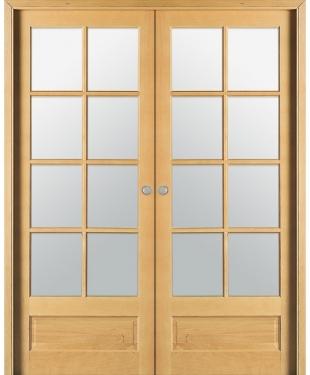 Double porte coulissante vitr e collection 2016 sur e couliss for Double porte salon vitree
