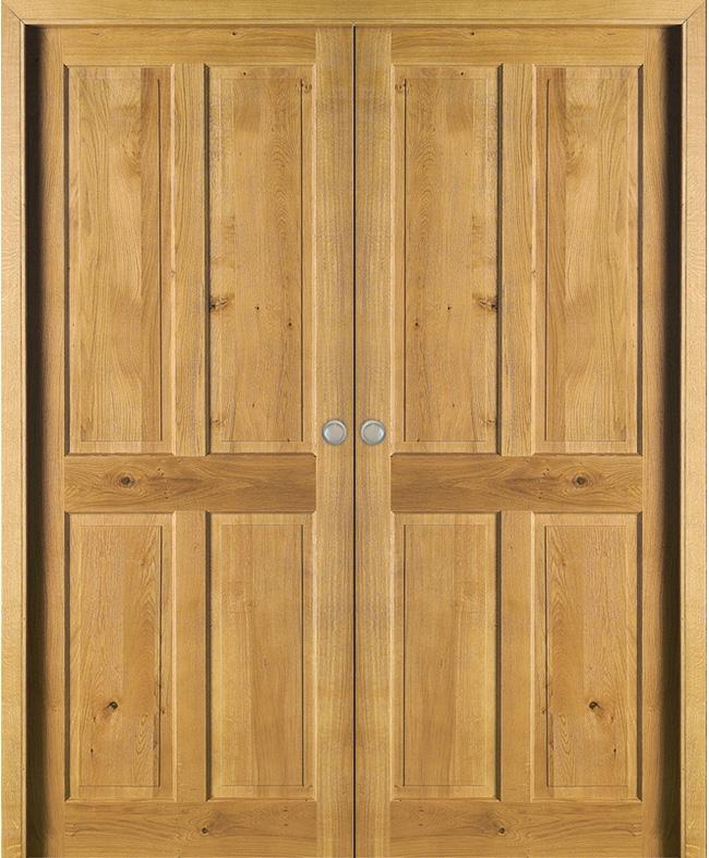 Double porte coulissante aubrac ch ne massif rustique clair paul ceyrac e cou - Porte coulissante chene ...