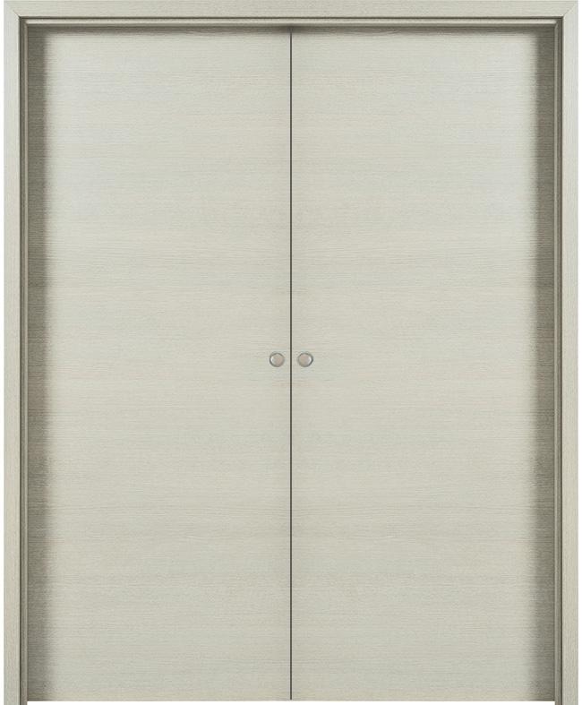 Double porte coulissante fuji d cor fr ne blanc paul for Porte zen fuji