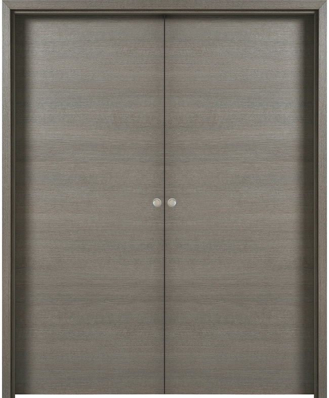double porte coulissante fuji d cor gris galet paul ceyrac e couliss. Black Bedroom Furniture Sets. Home Design Ideas