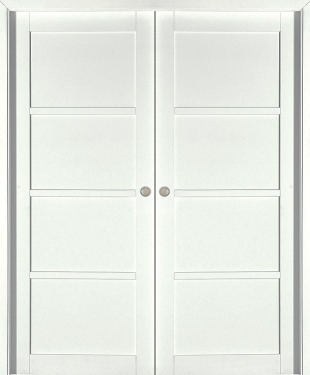 porte coulissante neptune h tre massif blanc satin paul. Black Bedroom Furniture Sets. Home Design Ideas