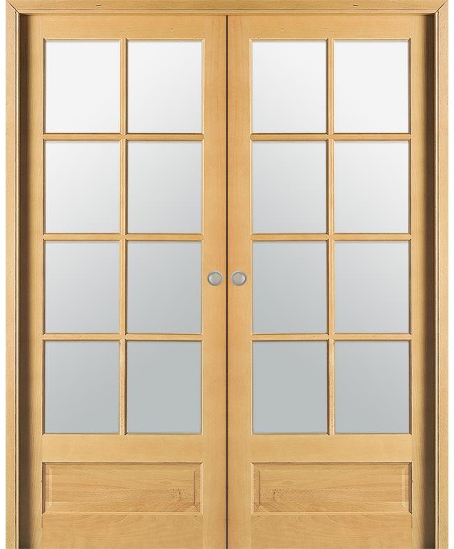 double porte coulissante vosges 8 carreaux h tre massif naturel paul ceyrac e couliss. Black Bedroom Furniture Sets. Home Design Ideas