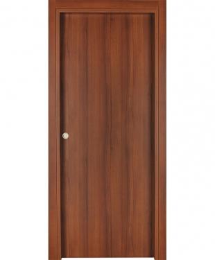 Double porte coulissante alicia vitr e cpl noyer lisse - Double porte coulissante vitree ...