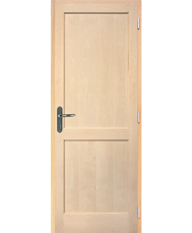 Porte battante access 2 panneaux bois plaqu bouleau brut reivilo e couliss - Chatiere porte en bois ...