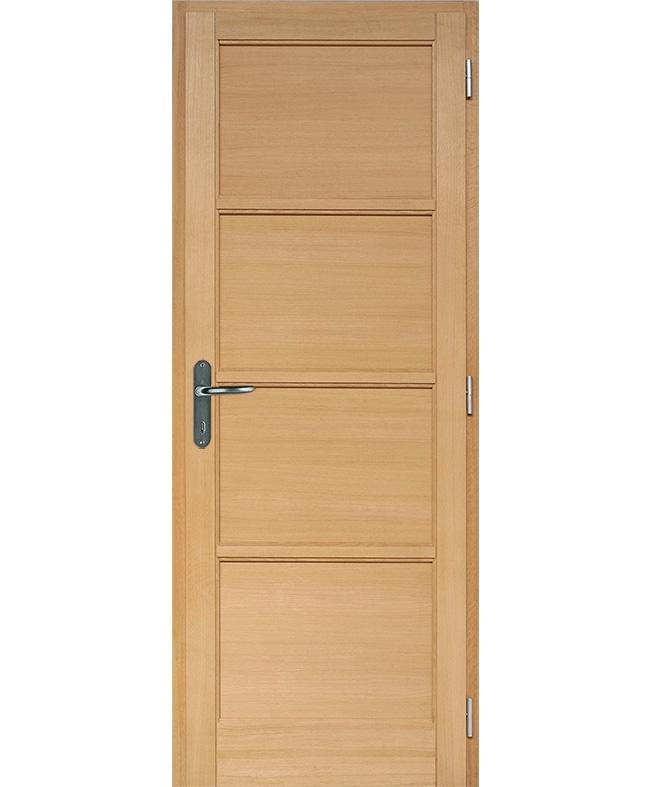 Porte battante access 4 panneaux bois plaqu ch ne brut for Taille porte interieur