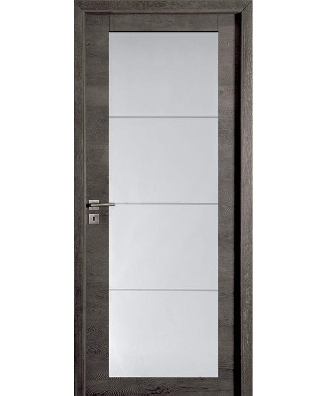 Porte battante bora vitr e ch ne anthracite bross paul for Porte de service anthracite