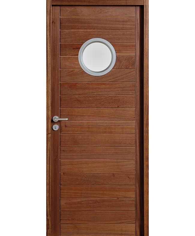 porte battante calypso 1 hublot bois exotique massif acajou paul ceyrac e couliss. Black Bedroom Furniture Sets. Home Design Ideas