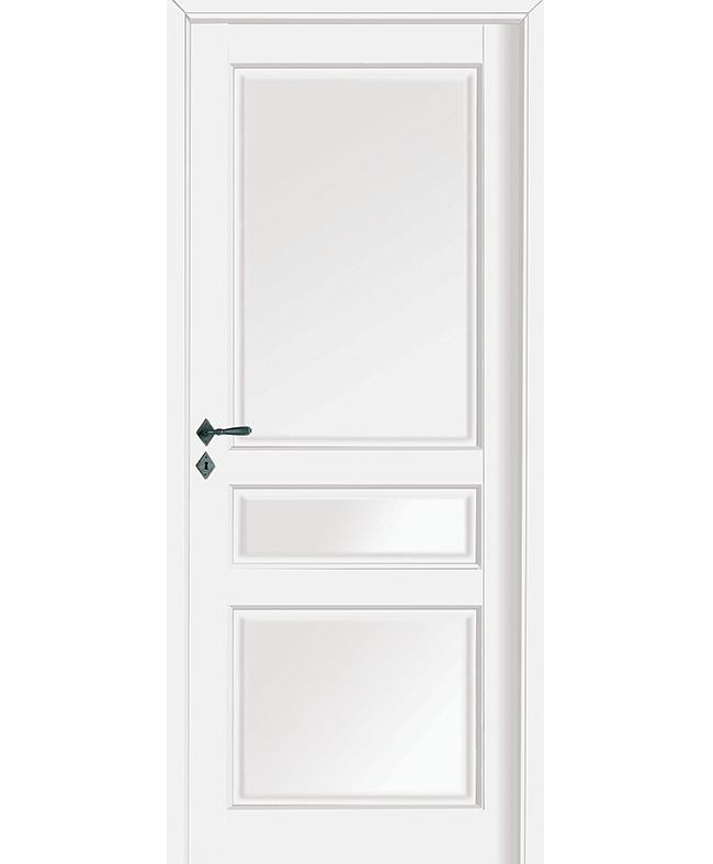 Porte battante quercy h tre massif blanc satin paul ceyrac for Porte interieur hetre