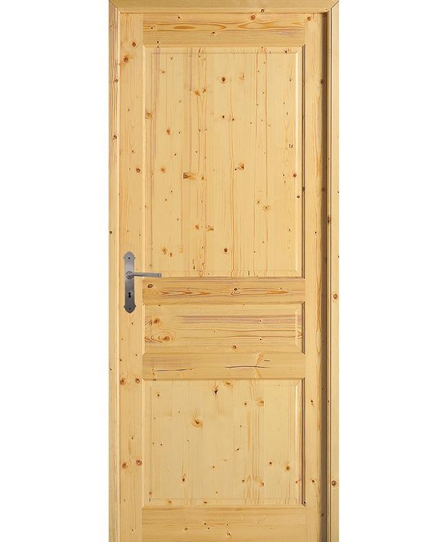 Porte battante quercy sapin massif brut paul ceyrac e couliss for Porte interieur sapin