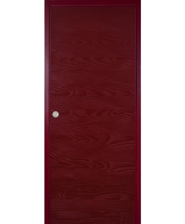 Porte coulissante epure sapin rouge bordeaux satin paul ceyrac e couliss - Porte coulissante rouge ...